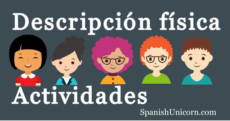 La descripción física en español ejercicios