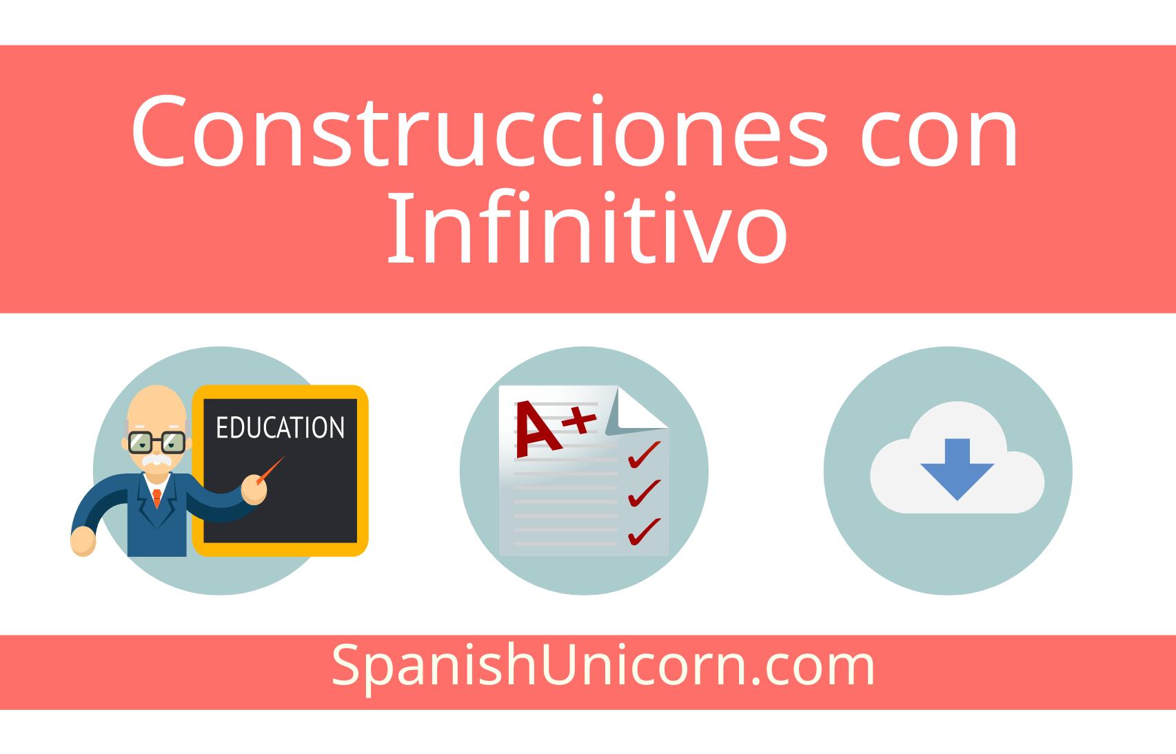 Construcciones con infinitivo