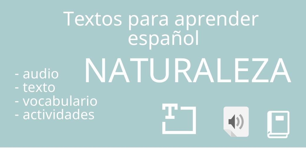 Vocabulario español:  la naturaleza