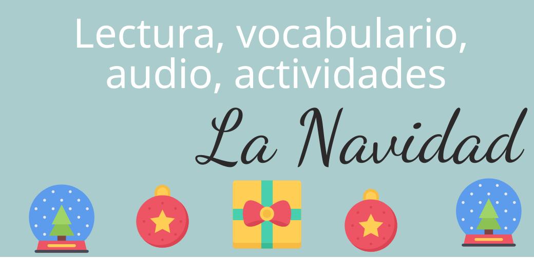 La Navidad  – vocabulario