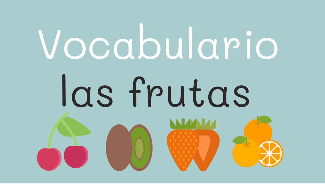 Las frutas en español, vocabulario y actividades online