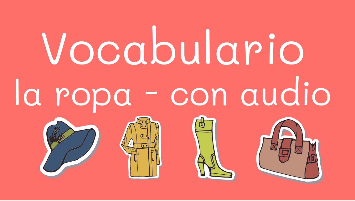 Comprando ropa – vocabulario y audio