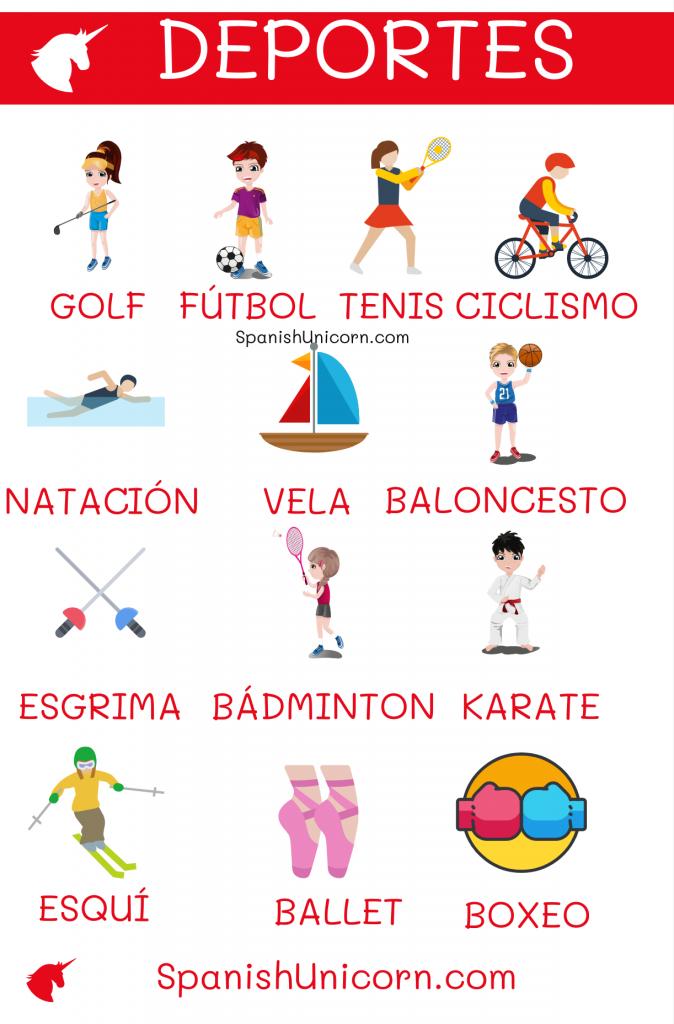 Vocabulario de los deportes en español