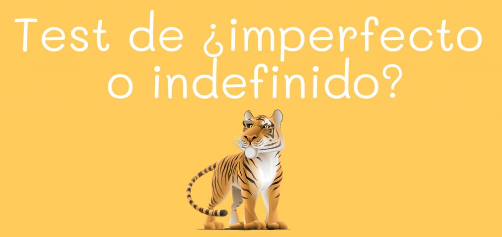Test de ¿imperfecto o indefinido?