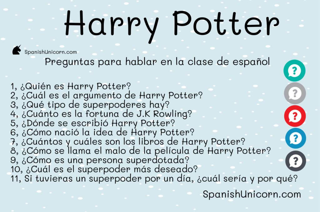 J. K. Rowling y Harry Potter ejercicios