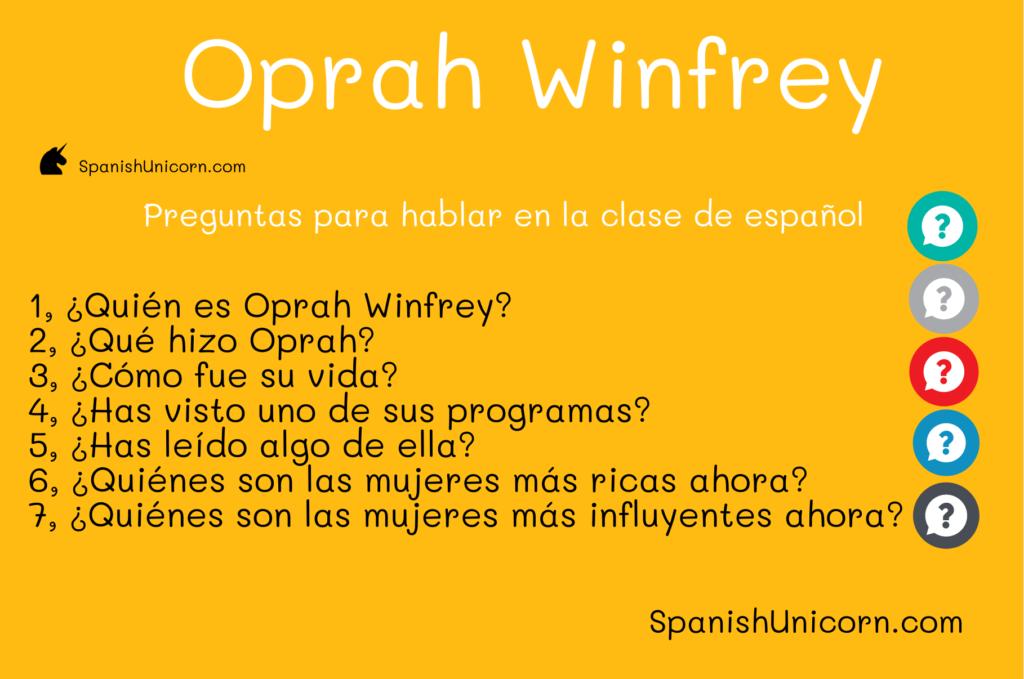 Oprah Winfrey - Preguntas para clases de español