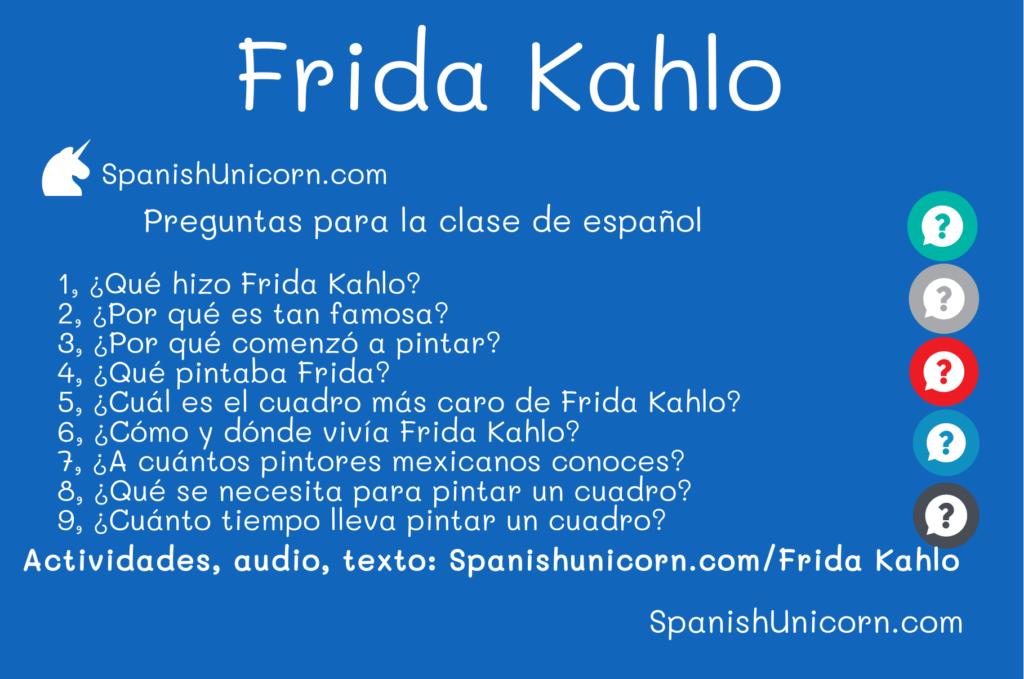 Frida Kahlo - Ejercicios para aprender y practicar español