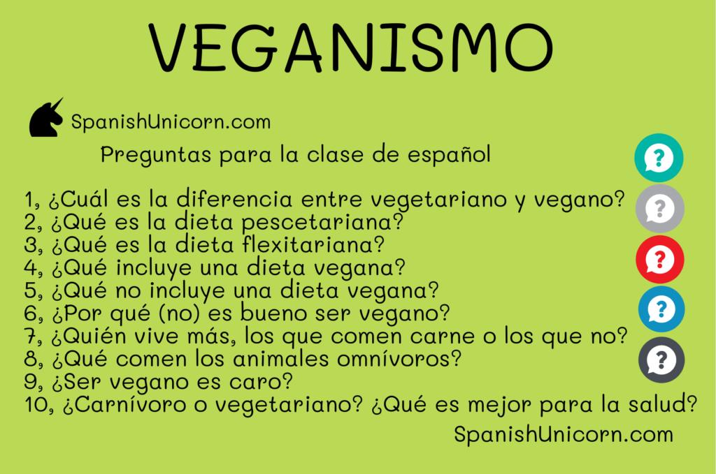 veganismo - preguntas para clases de español como lengua extranjera