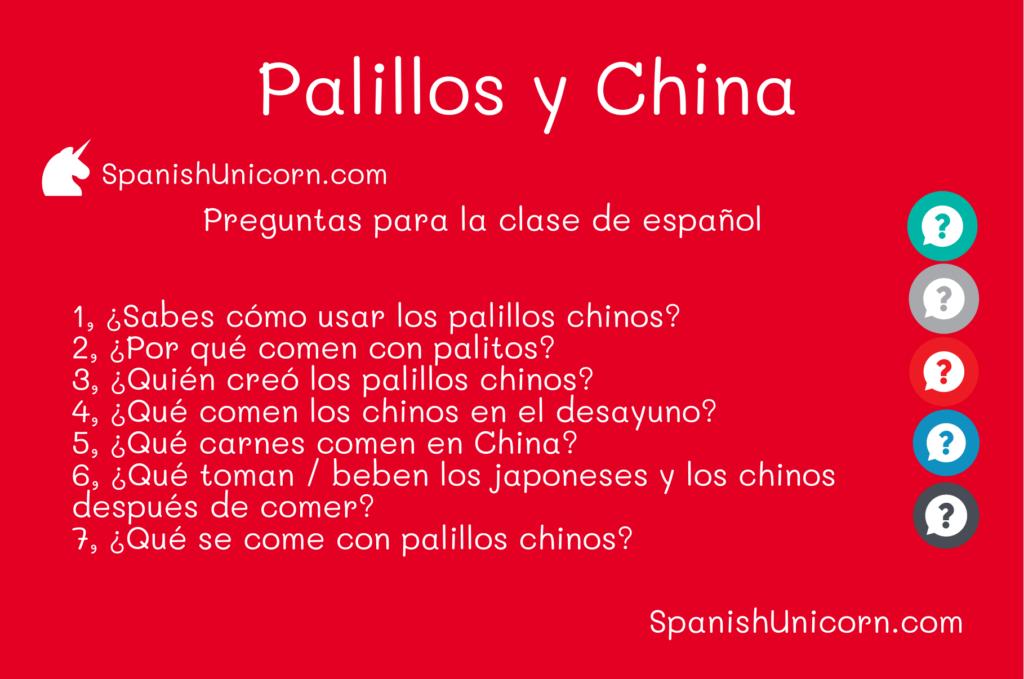 Preguntas para la clase de español