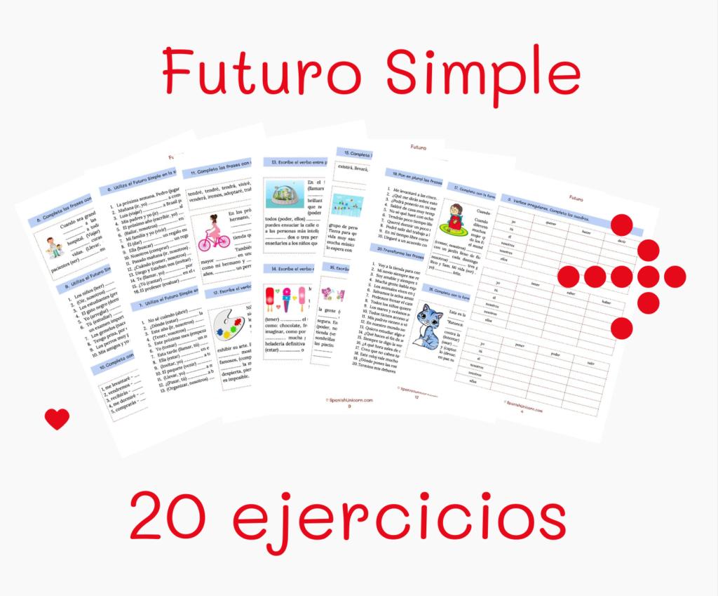 futuro simple ejercicios pdf