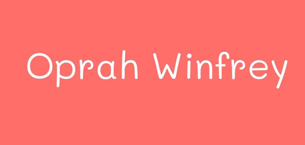 Oprah Winfrey Comprensión lectora