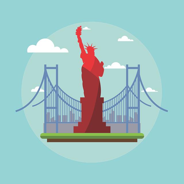 Estatua de la Libertad en Nueva York - comprensión auditiva para niveles