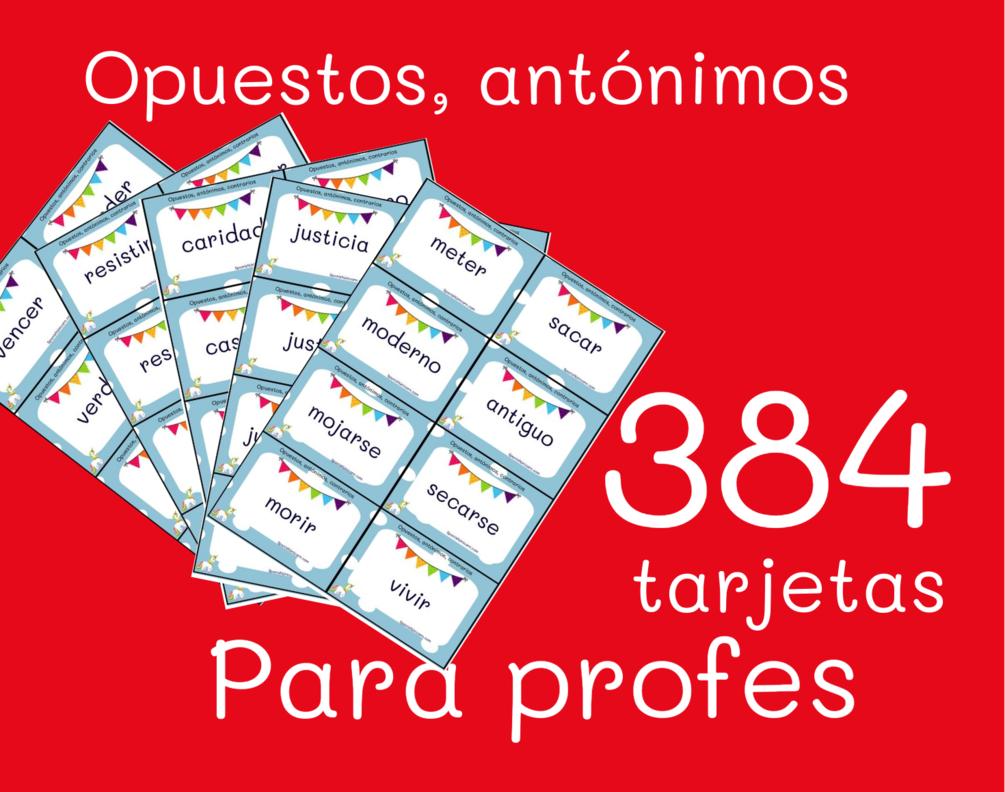 antónimos juegos para clase de español